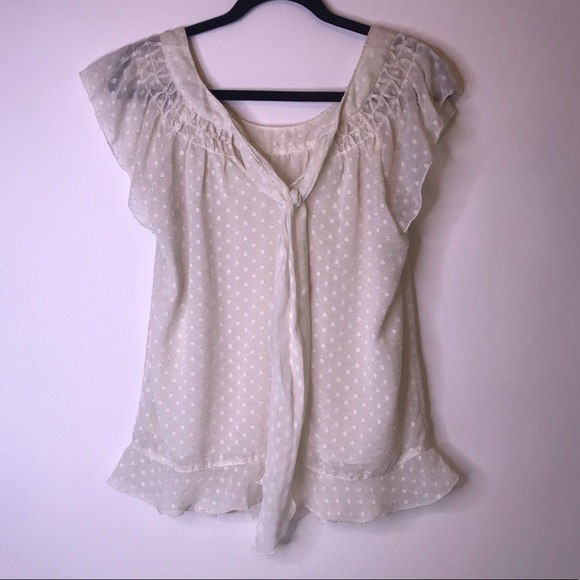 Chelsea & Violet Tops - Chelsea & Violet Creamy White Blouse, Small